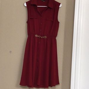 Always Indigo Maroon Dress